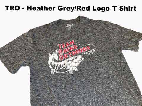 Team Rhino Outdoors - Heather Grey Red/White Classic Logo T