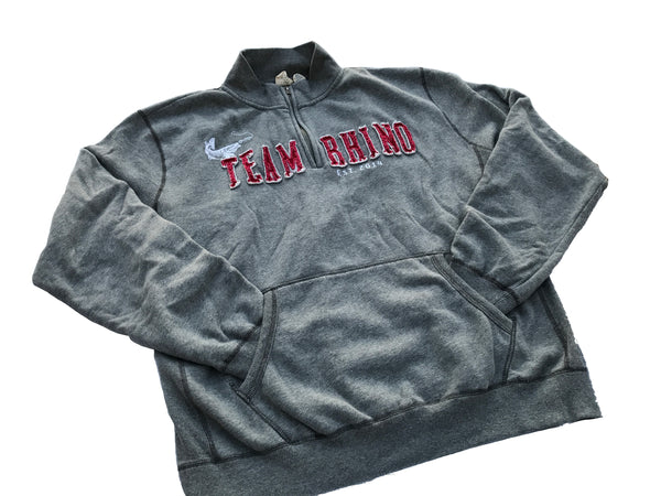 Team Rhino Outdoors - Grey/Red Quarter Zip Sweatshirt (S - Large Only)