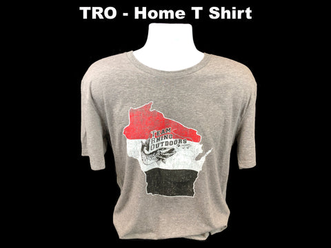 "TRO - ""Home"" Short Sleeve Heather Grey T Shirt"