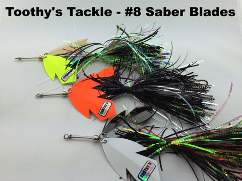 Toothy's Tackle #8 Saber Blade Bucktails