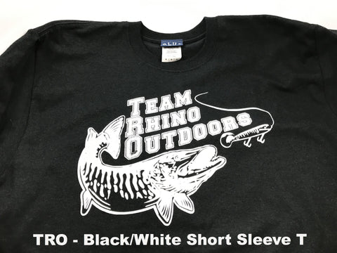 Team Rhino Outdoors  Black/White Short Sleeve Classic Logo T