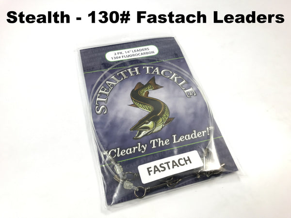 Stealth Tackle - 130# Fluorocarbon Fastach Leaders (ST130 Fastach 2 Pack)