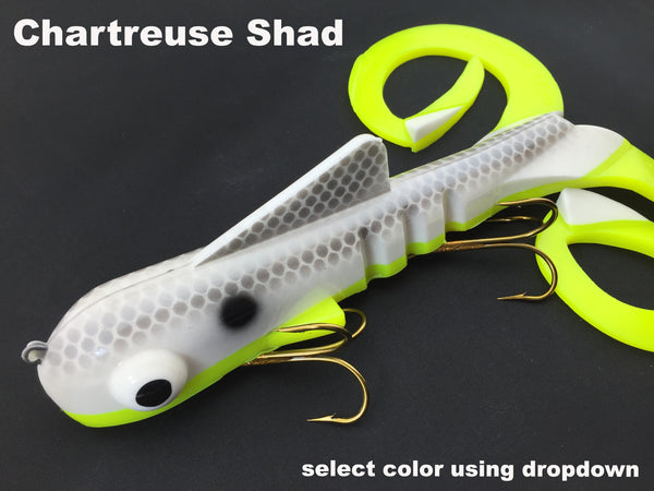 Musky Innovations Magnum Double Dawg - Chartreuse Shad
