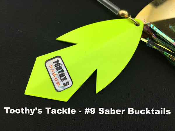 Toothy's Tackle #9 Saber Blade Bucktails