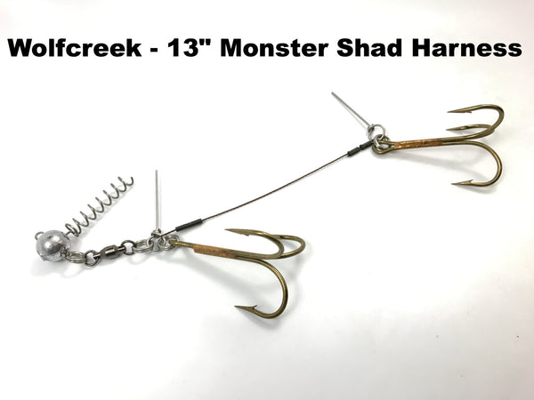 "Wolfcreek Lures - 13"" Monster Shad Harness"