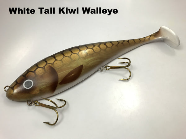 Musky Innovations Magnum Swimmin' Dawg - White Tail Kiwi Walleye