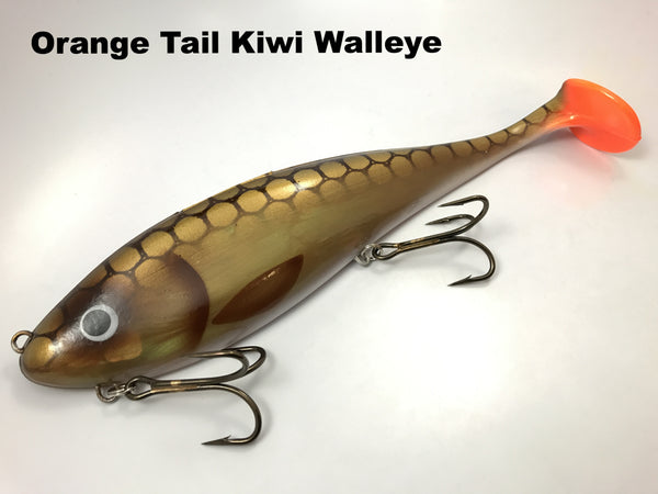 Musky Innovations Magnum Swimmin' Dawg - Orange Tail Kiwi Walleye