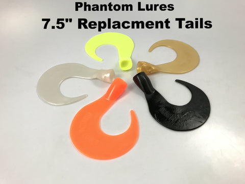 "Phantom Lures 7.5"" Replacement Tails (3 pack)"