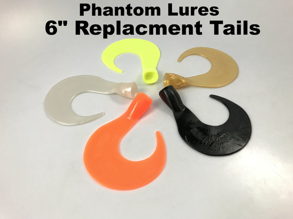 "Phantom Lures 6"" Replacement Tails (3 pack)"