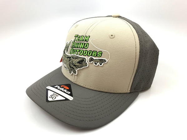 Team Rhino Outdoors Grey Stone High Crown Lime Logo Hat