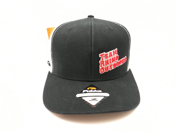 Team Rhino Outdoors Black White High Crown TRO Letter Hat