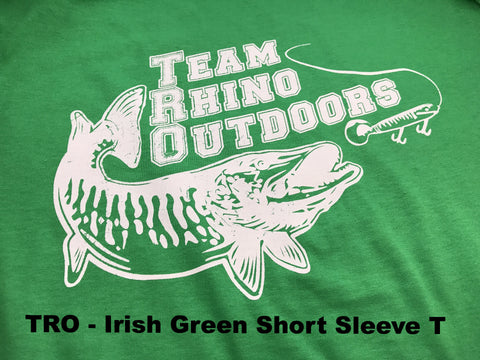 Team Rhino Outdoors  Irish Green/White Short Sleeve Classic Logo T