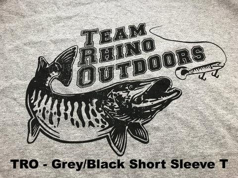 Team Rhino Outdoors  Heather Grey/Black Short Sleeve Classic Logo T