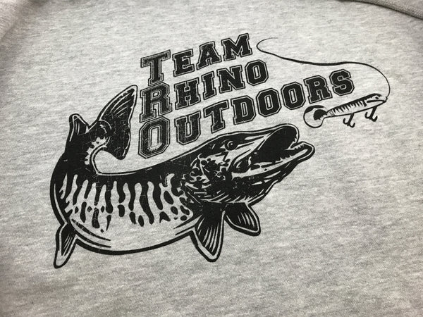 Team Rhino Outdoors - Gunmetal/Black Sanded Fleece Hoodie