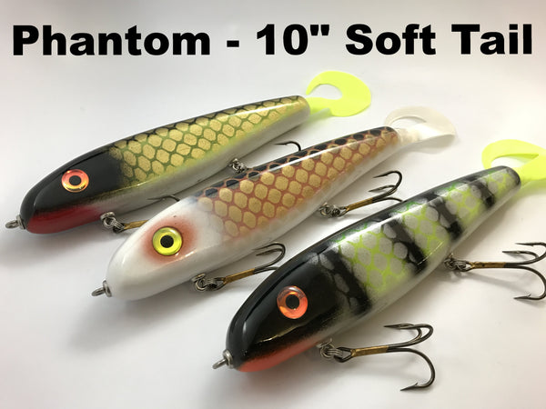 "Phantom Lures 10"" Phantom Soft Tail"