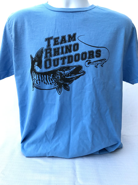 Team Rhino Outdoors  Powder Blue/Black Short Sleeve Classic Logo T