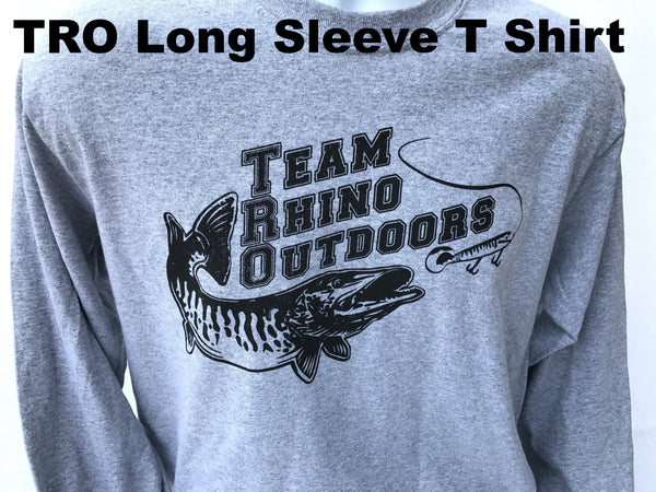 Team Rhino Outdoors  Heather Grey/Black Long Sleeve Classic Logo T