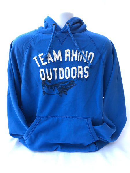 Team Rhino Outdoors - Fish Logo Appliqué Hoodie Royal Blue