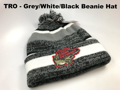 TRO - Grey/White/Black Beanie Hat