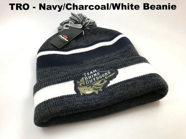 TRO - Navy/Charcoal/White Beanie Hat
