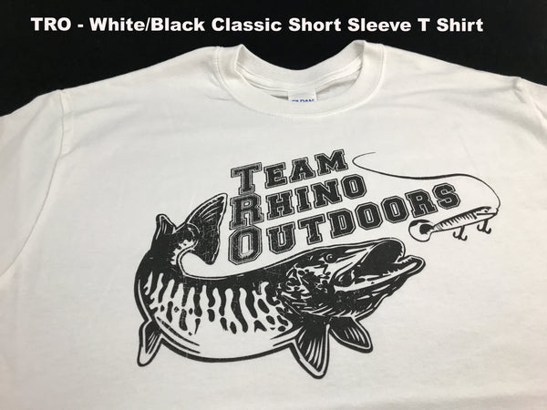 Team Rhino Outdoors  White/Black Short Sleeve Classic Logo T