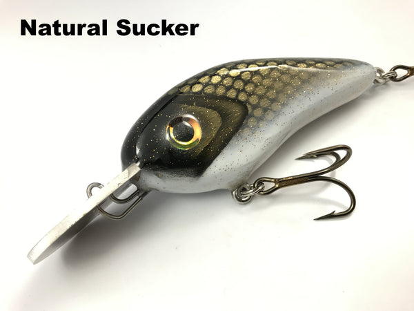 Llungen Lures Wood Chad Shad ROUND Metal Lip