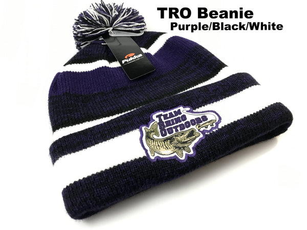 TRO - Purple/Black/White Beanie Hat