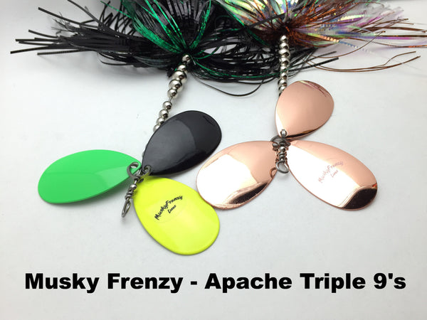 Musky Frenzy Lures Apache Triple 9's