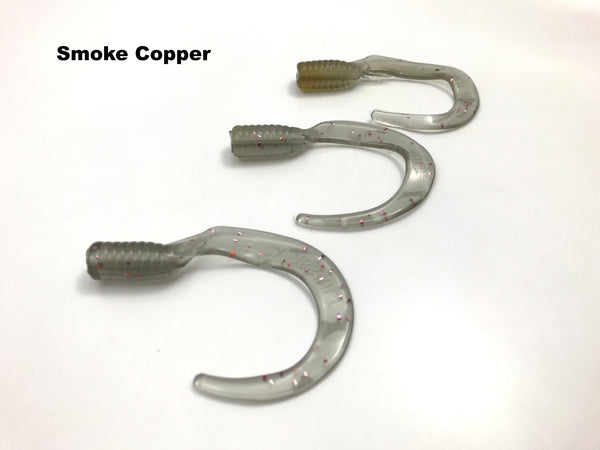 "Esox Assault Killer Tails 6"" and 7.5"" - Smoke Copper"
