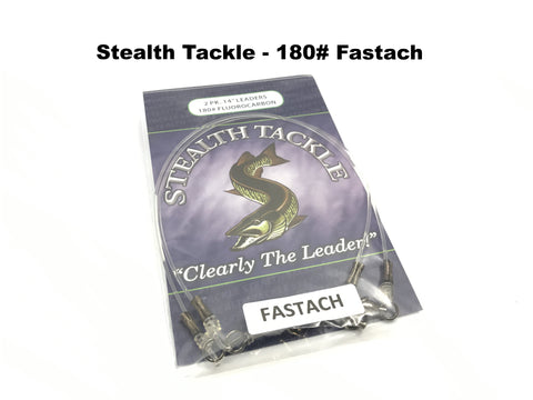 Stealth Tackle - 180# Fluorocarbon Fastach Leaders (ST180 Fastach 2 Pack)