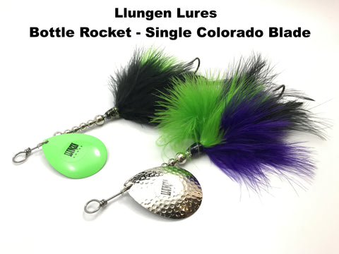 Llungen Lures Bottle Rocket Single Colorado Blade