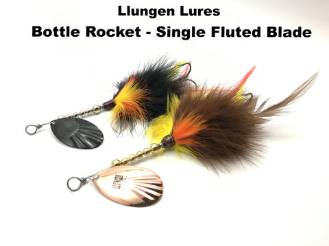Llungen Lures Bottle Rocket Single Fluted Blade