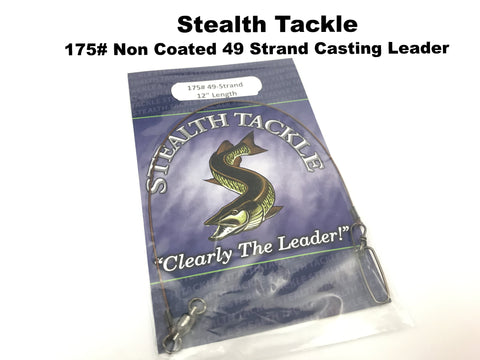 Stealth Tackle - 175# Non Coated 49 Strand Casting Leader 1 Pack (ST175)