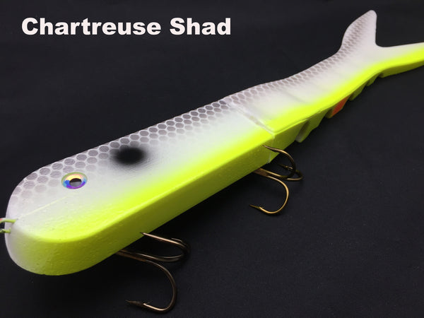 Musky Innovations Dyin' Dawg - Chartreuse Shad