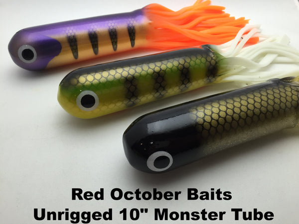 "Red October Baits Unrigged 10"" Monster Tube"