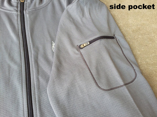 TRO - Grey Full Zip Performance Hoodie (Medium Only)