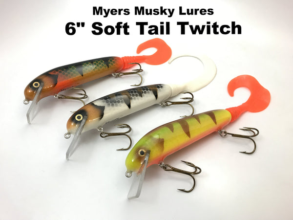 "Myers Musky Lures - 6"" Soft Tail Twitch"