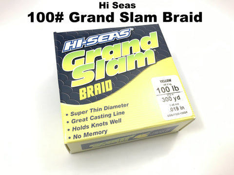 Hi Seas 100# Grand Slam Braid 300 yd Spool