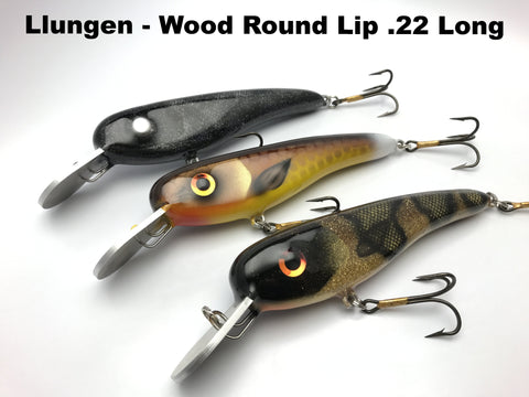 Llungen Lures Wood 22 Long Round Lip
