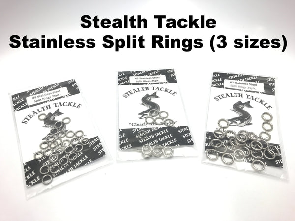 Stealth Tackle Stainless Steel Split Rings 25 Pack (3 sizes)