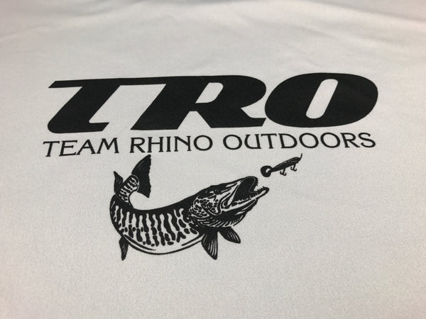 Team Rhino Outdoors Silver w/ Black TRO Dry Fit Performance Long Sleeve T