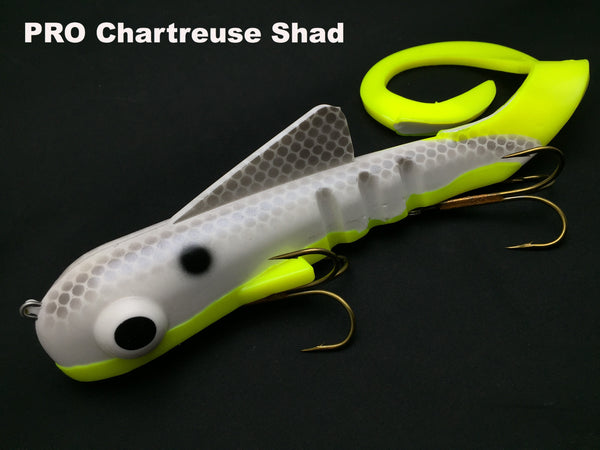 Musky Innovations PRO Pounder (Super Mag) Bull Dawg - PRO Chartreuse Shad