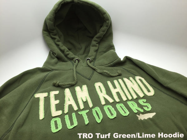 Team Rhino Outdoors - Appliqué Hoodie Turf Green/Lime (Medium Only)