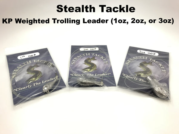 Stealth Tackle - KP Keel Weighted Trolling Leaders (1oz, 2oz, or 3oz)
