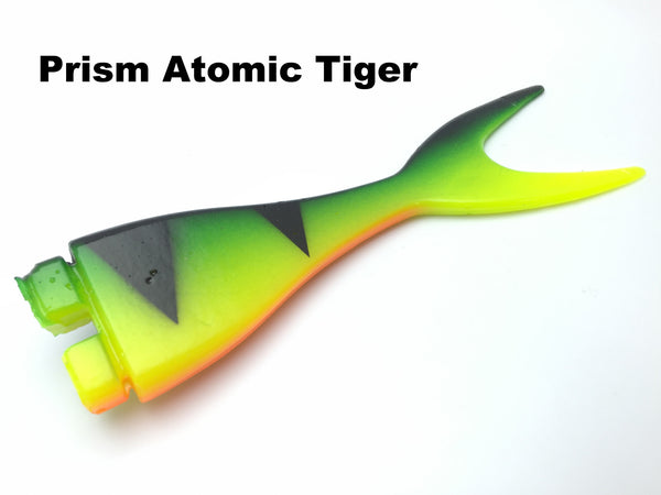 Musky Innovations Mag Shallow Invader Replacement Tail - Prism Atomic Tiger
