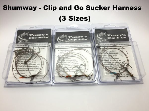 Shumway Tackle - Fuzzy's Clip N Go Sucker Harness (3 sizes)