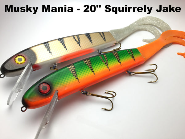 "Musky Mania 20"" Squirrely Jake"