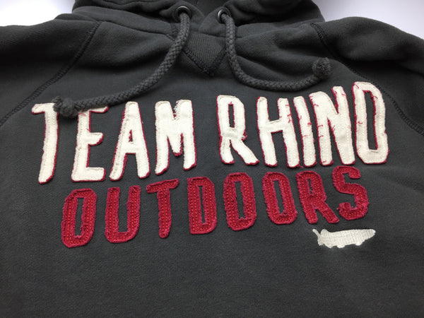 Team Rhino Outdoors - Appliqué Hoodie Charcoal/Red (Medium Only)