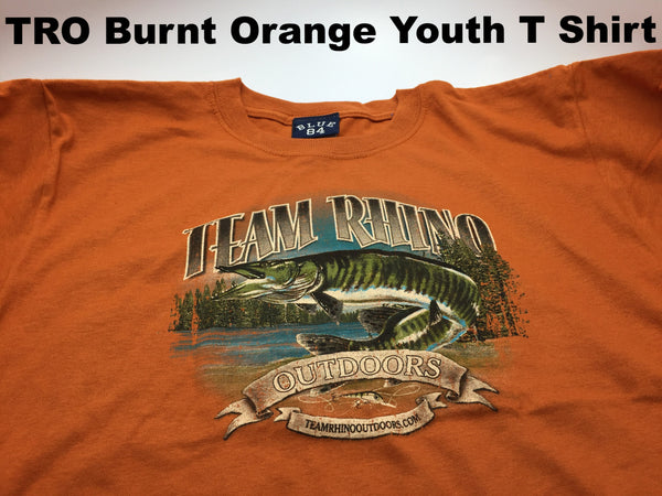 TRO - Burnt Orange Youth T Shirt (L and XL Only)