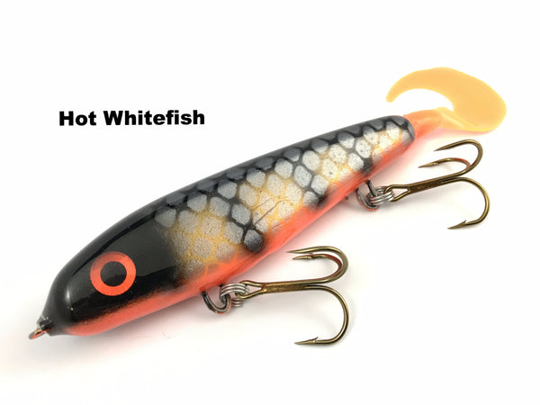 "Phantom Lures 6"" Phantom Soft Tail - Hot Whitefish"